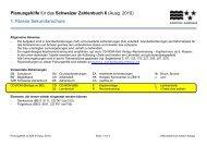 Planungshilfe für das Schweizer Zahlenbuch 6 (Ausg. 2010) 1 ...