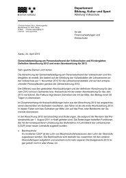Brief definitive Abrechnung 2012 und erste Akontozahlung für 2013