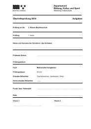 Übertrittsprüfung 2010 Mathematik Fertigkeiten Mathbuch