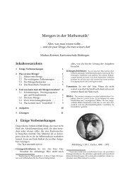 Ergänzung Mathematik Mengenlehre