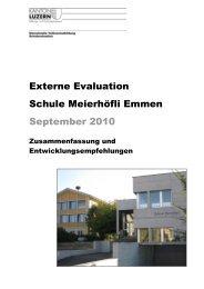 Bericht der Fachstelle - Schulen Emmen