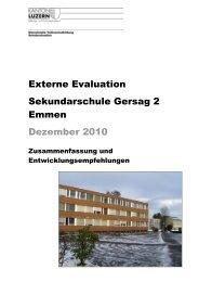 Rangliste - Schulen Emmen