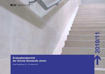 Evaluationsbericht der Schule Gemeinde Jonen - Schule Jonen