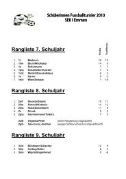 Fussballturnier der Emmer Sek I 09/10Blauer ... - Schulen Emmen