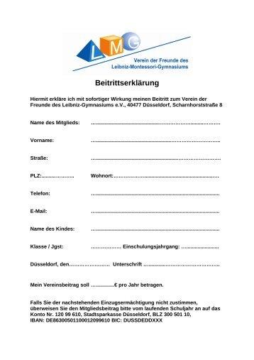 Beitrittserklärung - Düsseldorfer Schulen im Internet