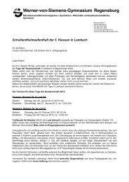 Werner-von-Siemens-Gymnasium Regensburg - Schulen in ...