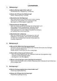 Qualivorbereitung Leichtathletik - Schulen in Regensburg