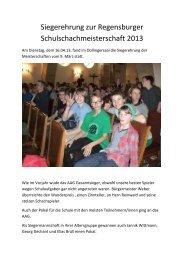 Das AAG ist Regensburger Schulschachmeister 2013! - Schulen in ...