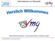 Informationen zur Oberstufe - Schulen in Regensburg