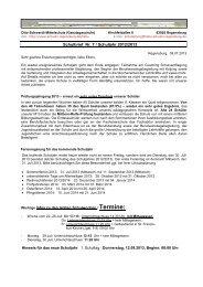 Schulbrief im Schuljahr 2012/2013 - Schulen in Regensburg