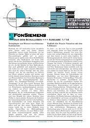 zur Ausgabe November 2013 - Schulen in Regensburg