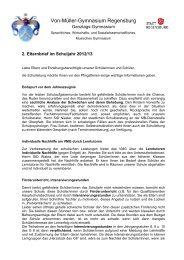 Elternbrief Mai 2013 - Schulen in Regensburg