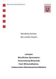 Lehrplan Berufliches Gymnasium Fachrichtung Wirtschaft Fach ...