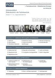 • Fachoberschule – Didaktisches Konzept Schwerpunktfach ...