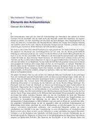 Elemente des Antisemitismus - Technische Universität Darmstadt