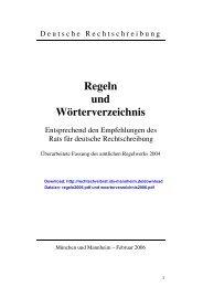 Deutsche Rechtschreibung - Technische Universität Darmstadt