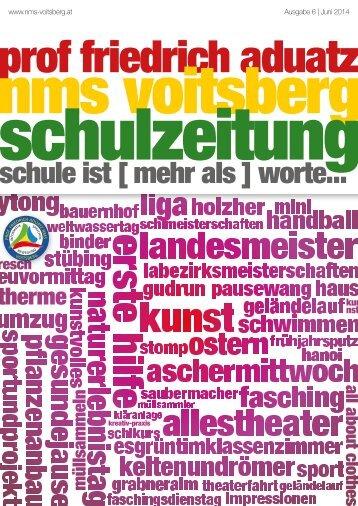 Schulzeitung - nms Voitsberg - Ausgabe 6