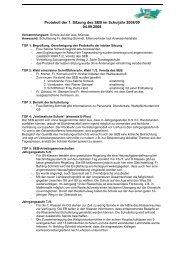 Protokoll der 1. Sitzung des SEB im Schuljahr 2008/09 04.09.2008