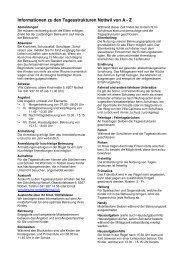 Informationen von A-Z 2013/14 - Schule Nottwil