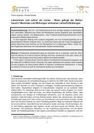 Vortrag von Prof. Dr. F. Lipowsky - Schulentwicklung in Bayern