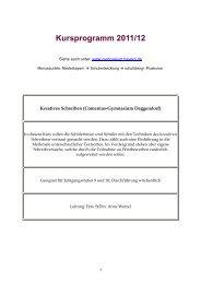 Kursprogramm 2011/12 - Schulentwicklung in Bayern