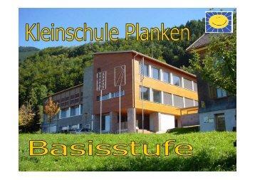 Pädagogisches Konzept der Basisstufe - Schule Planken
