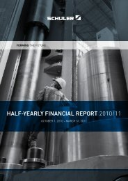 HalF-yearly Financial report 2010/11 - Schuler AG