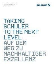geSchäftSbericht 2010 / 11 - Schuler AG