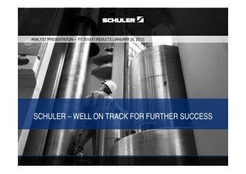 Presentation - Schuler AG