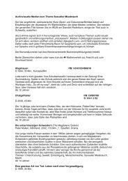 AV-Medienliste Sexueller Missbrauch - Schule und Erziehung