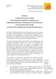 Statement von Bischof Dr. Franz-Josef Bode im Pressegespräch ...