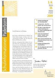 stellen wir Ihnen das Heft 3/4 - Institut für Religionspädagogik und ...