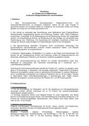 Richtlinien zur Förderung von Maßnahmen im Bereich ...
