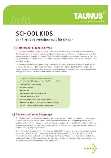 SCHOOL KIDS – - Schule & Gesundheit