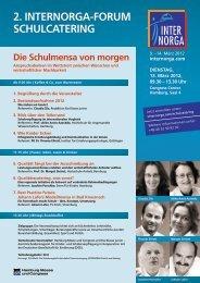2. INTERNORGA-FORUM SCHULCATERING - Home - Deutsche Gesellschaft ...