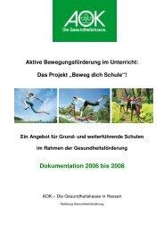 Dokumentation 2006 bis 2008 - Schule & Gesundheit - Hessen