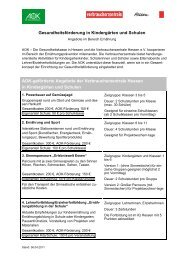 Gesundheitsförderung in Kindergärten und Schulen AOK-geförderte ...