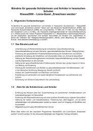 Bündnissvertrag als PDF - Schule & Gesundheit - Hessen