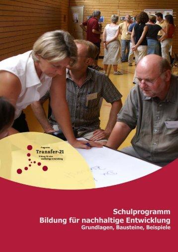 """Schulprogramms """"Bildung für nachhaltige Entwicklung"""" - Schule ..."""