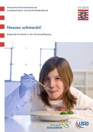 Hessen schmeckt! - Schule & Gesundheit