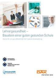 Handbuch Lehrergesundheit - Baustein einer guten gesunden Schule