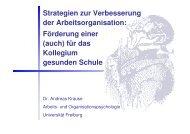 Strategien zur Verbesserung der Arbeitsorganisation - Schule ...
