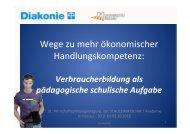 Forum 1 Schuldenprävention - Arbeitskreis Schulewirtschaft-Bayern