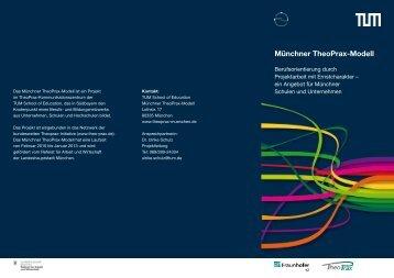 Münchner TheoPrax-Modell - Arbeitskreis Schulewirtschaft-Bayern