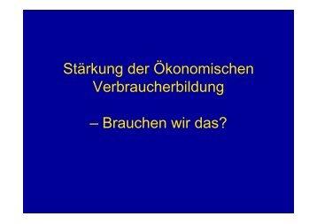 Forum 6 E-Learning-Lehrgang - Arbeitskreis Schulewirtschaft-Bayern