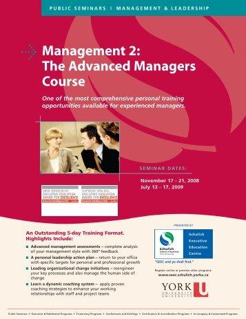 Management 2 - Schulich School of Business - York University