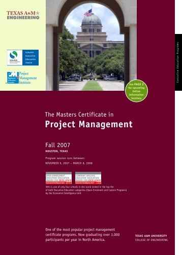 The Masters Certificate In Project Management - Schulich School of ...