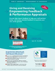 Empowering Feedback - Schulich School of Business - York University