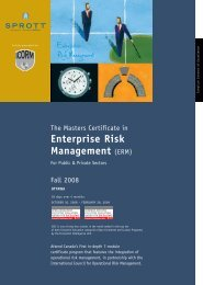 The Masters Certificate in Enterprise Risk Management - Schulich ...