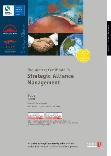 SEEC Masters Certificate in Strategic Alliance Management